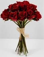 Red Rose Silk Flower Bouquet