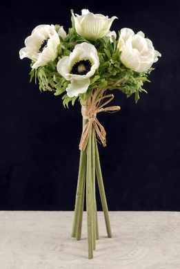 Silk Flower Bouquets White Anemones