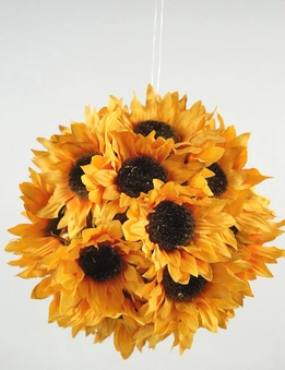"Silk Sunflower 7"" Balls"