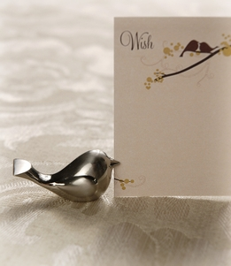 Silver Bird Place Card Holder (Set of 8)