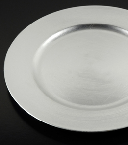 "Silver Charger Plates Round 13"" (Set of 6)"