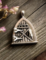 Silver Charms 1 in. Triangle Door (opens) Locket