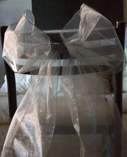 Silver Organza Chair Sashes (Pack of 10)