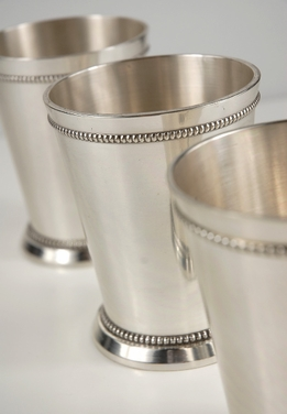 Silver Plated Mint Julep Cups 4in