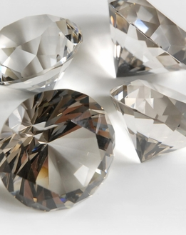 Smoked Glass Diamonds 1.5 in.