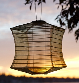Solar Lanterns Soji Silk Effects Square Bronze LED