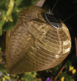 Solar Lanterns Soji Silk Effects Teardrop Bronze LED