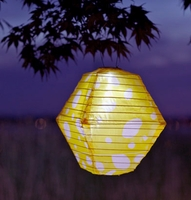 Solar Lanterns Yellow & White Soji Rhombus Limited Edition