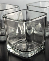 Square Glass Votive Holders 3in (Pack of 12)