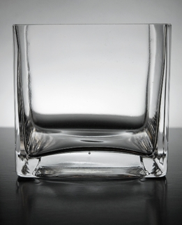 Square Glass Vase 4in