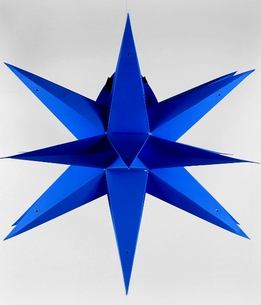 "Star Lanterns 24"" Blue Geometrical Multi Point Paper Lanterns"