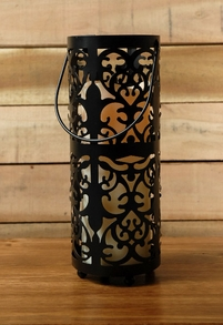 "Storyville 10"" Lantern with battery operated candle"
