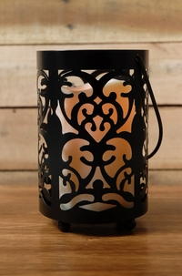 "Storyville 6"" Lantern with battery operated candle"