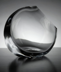 Tilted Glass Vase 5 in.