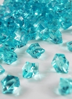 Table Scatter Vase Gems Aqua Blue ( 3/4 lb bag )