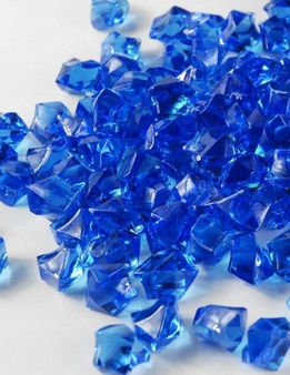 Table Scatter Vase Gems Blue (3/4 lb )