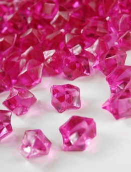 Table Scatter Vase Gems Fuchsia Pink (3/4lb bag)