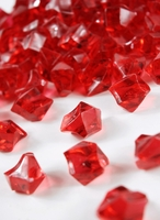 Table Scatter Vase Gems Red (3/4 lb bag)