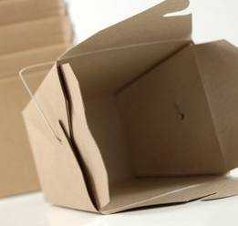 "Take Out Boxes 4"" Natural Brown (12 boxes )"