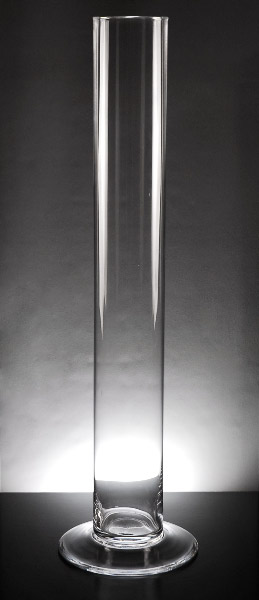 "Tall Glass Cylinder Vases 4"" x 29.5"""