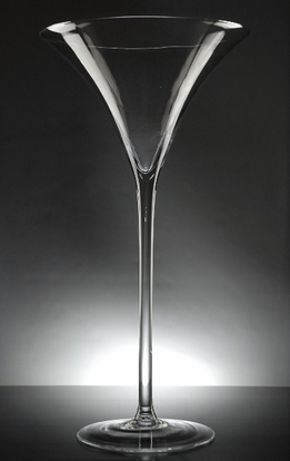Tall Martini Glass Vase