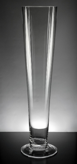 Tall Vases 25 Quot Clear Glass Flared Vases
