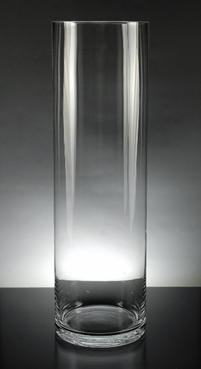 Tall Clear Glass Cylinder Vase 6in x 20in