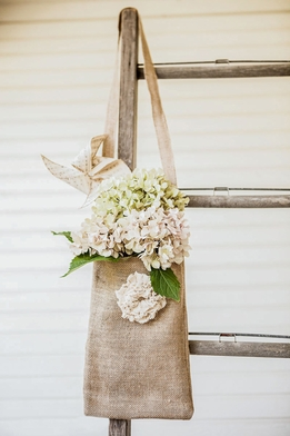 "Tattered Rose Large Burlap Bags 12"" x 8"""