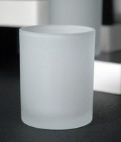 Tealight Holders 3 in. White Frosted Glass (Pack of 24)