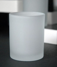 Tealight Holders White Frosted Glass 3in (Pack of 24)
