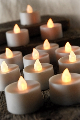 Tealights LED Battery Operated Flickering (12 candles)