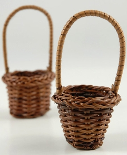 "Tiny Favor Baskets 3.5"" with Handles (12 baskets)"