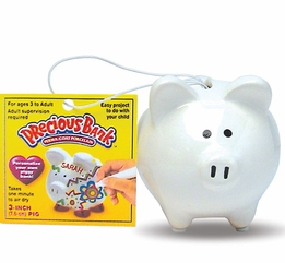 "Tiny Piggy Banks Mini Precious 3"" Pig"
