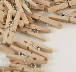 "Tiny Wood Clothes Pins 1"" size (50 pins)"