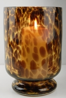 Tortoise Shell Glass Candle Holder