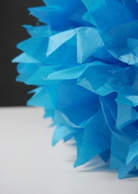 "Tissue Paper Pom Poms 20"" Turquoise Blue (Pack of 4)"