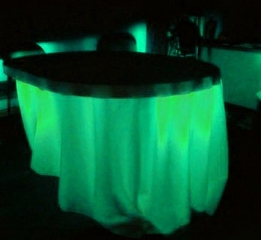Under Table Light Bases Lighting Green LED Battery Operated
