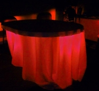 Under Table Lights LED 80 Red 80 Battery Operated