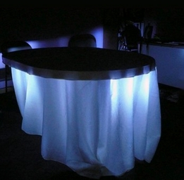 Under Table - Table Skirt  Lights & Ambient Room Lighting  LED