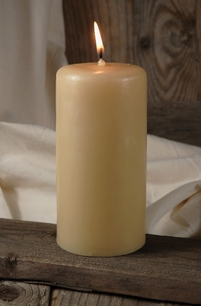 Unscented Candles 3x6 Ivory Cotton Wicks
