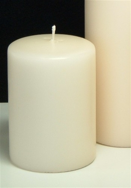 "Unscented Pillar Candles Ivory 4"" (2 candles/pkg)"