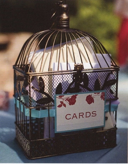 Using a Birdcage for Your Wedding Card Holder