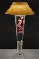 Gold Microdot Lamp Shade and Light for Vases