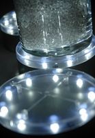 "Vase Lights LED Clear 4"" Silver E-Mini"