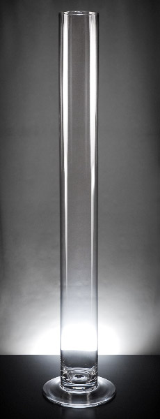 Tall Skinny Cylinder Vase 39.5in