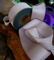 "Violaceous Tan Custom Dyed Silk Ribbon 1.5"" width 38 yards"