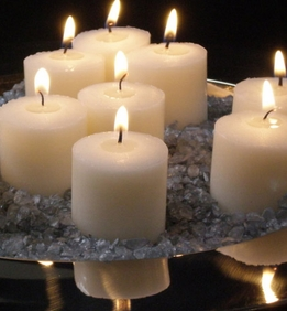 Votive Candles Ivory Unscented (Pack of 21)