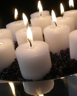 Votive Candles White 10 hr. Burn (21 candles/pkg)