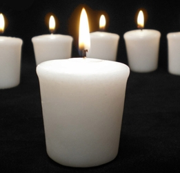 Votive Candles White Unscented 15 hr burn Cotton Wick (9 candles)