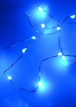 Waterproof LED Fairy String Lights Battery Operated | Blue